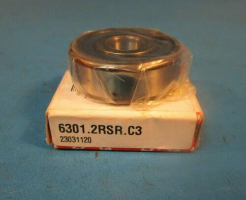INA, KOYO, SKF, Nachi Single Row Sealed Ball Bearing FAG 6301 2RSR C3 2RS,