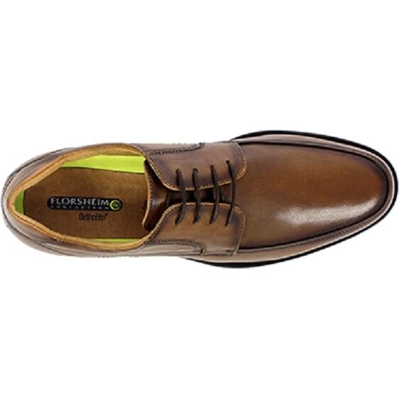 Florsheim Mens schuhe Toe Midtown Moc Toe schuhe Oxford Cognac Leather Ortholite 12136-221 05ab78