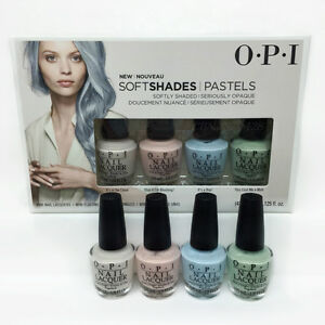 Nail-Lacquer-Opi-MINI-Soft-Shades-Pastel-2016-DDS33-4-colors-x-3-75ml