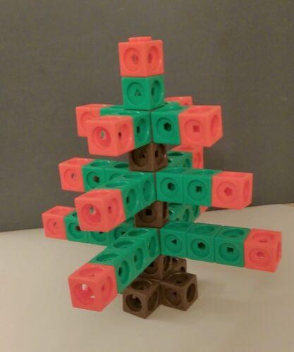 Nouvelle Arbre De Noel Pack 49 2 cm x 2 cm x 2 cm Cubes Maths Lien comptage cubes