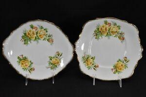 Royal-Albert-Tea-Rose-Yellow-Pair-of-Handled-Cake-Plates