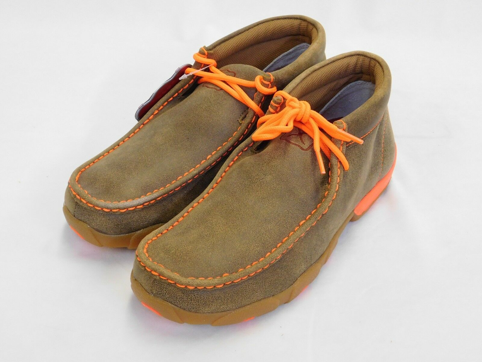 Men's Twisted X Driving Mocs w Neon orange MDM0019