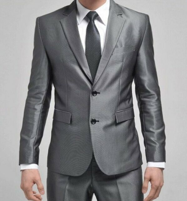 Hot Men Slim Wedding Suit/Suits two-button Business Jacket Formal Coat Pants Tie