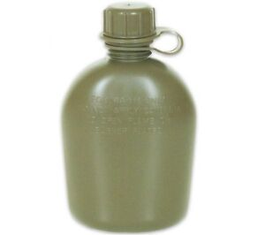 NEW US Military Style Tactical Survival OD Green 1 QT HARD PLASTIC Water Canteen