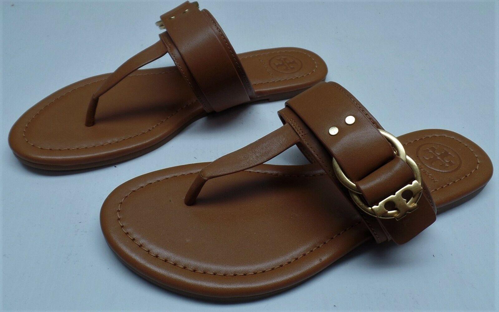 Tory Burch Marsden Flat Thong Sandal in Cognac  - Size 5M -  228