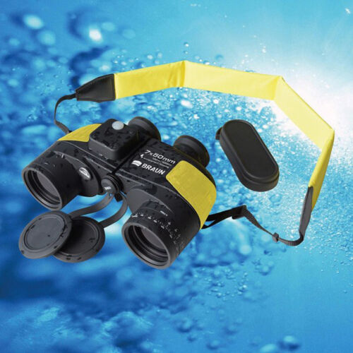 Braun marine prismáticos 7x50 impermeable con brújula y bolsa /& schwimmgurt ***