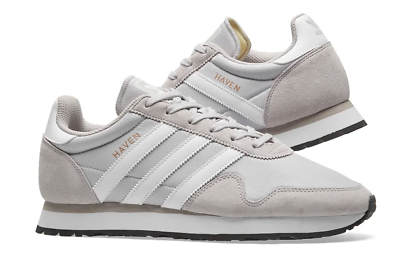 Adidas Men – Haven Trainers – Solid Grey & White- BB2738 | eBay