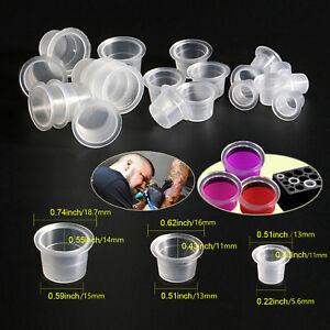 Wholesale 100 pcs Ink Caps Plastic Cups Tattoo Supplies - Small ...