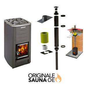 Harvia M2 ♨️ Sauna Ofen Saunaofen holzbeheizt aus Finnland 🇫🇮 Schornstein Set