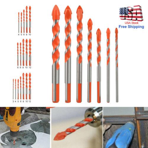 Multifunctional Triangle Drill Bits Ceramic Glass Punching Hole Working 6mm-12mm