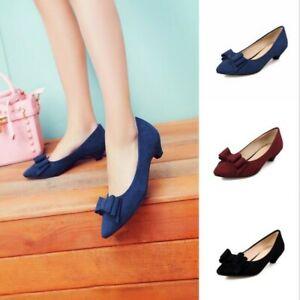 Zapatos De Vestir Para Mujeres Zapatos De Salón Puntera Puntiaguda Formal Empresa Informal Sin Cordones En Tacón Gatito Ebay