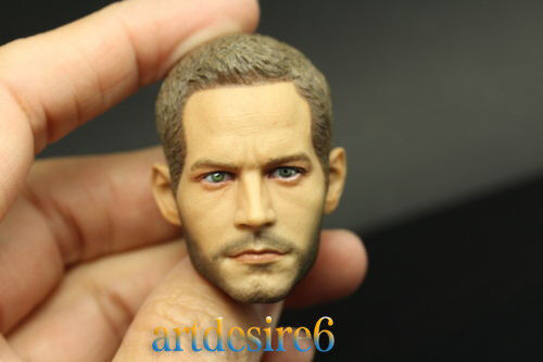 1//6 Paul Walker Head Sculpture Speed and Passion Fit 12/'/' Male Body Figure Toys