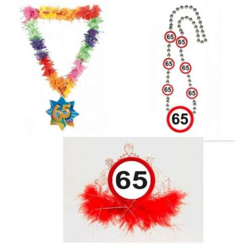 65th party favours 65th supplies 65th birthday accessories