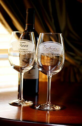 Engraved Bridesmaid Wine Glass Gift Ideas, Set of 4
