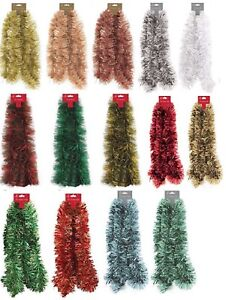 Christmas Tree Tinsel.Details About Christmas Tree 2m Chunky Tinsel Decoration Silver Gold Blue Green Red Garland