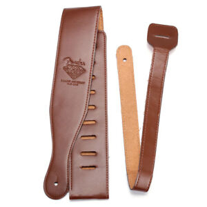Adjustable-Brown-Soft-Leather-Thick-Strap-Belt-for-Electric-Acoustic-Guitar-Bass