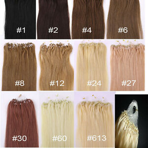 Micro-Ring-Easy-Loop-Hoop-100-Real-Natural-Remy-Human-Hair-Extensions-100s-New
