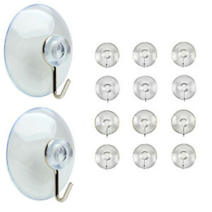 Suction Cup Hooks Window Glass Bathroom Kitchen Plastic Strong