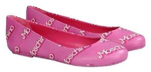 525-MSRP-SS15-Moschino-Couture-Jeremy-Scott-Barbie-Pink-Logo-Flats-Ballet-Shoes