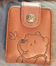 Disney Winnie The Pooh Brown Embossed Wallet With Mirror - EUC