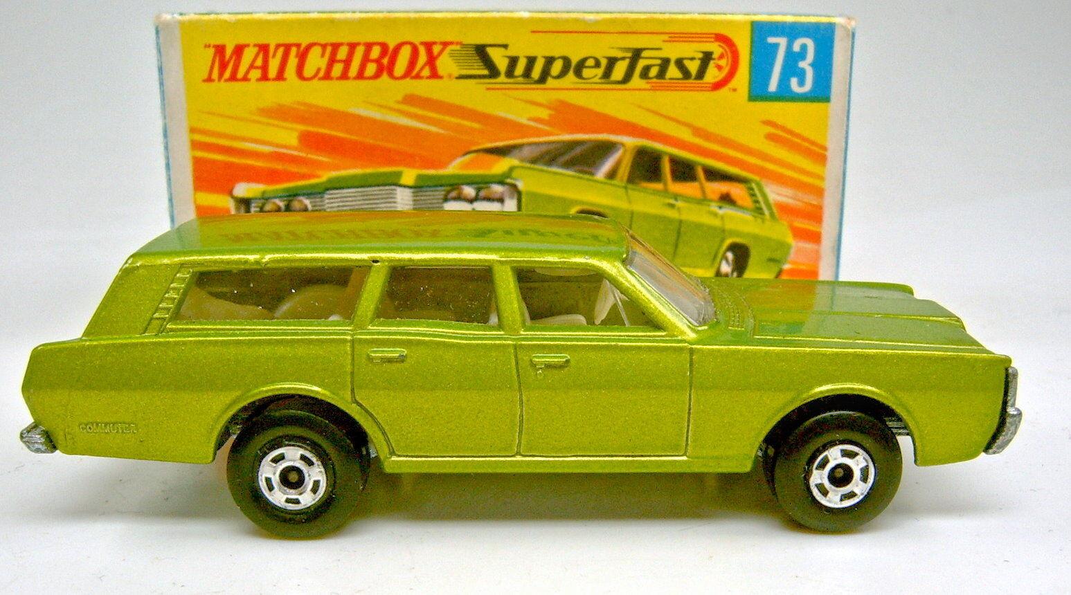 MATCHBOX sf Nº 73a Mercury stationwagon vertmet. largeur roues top dans Box