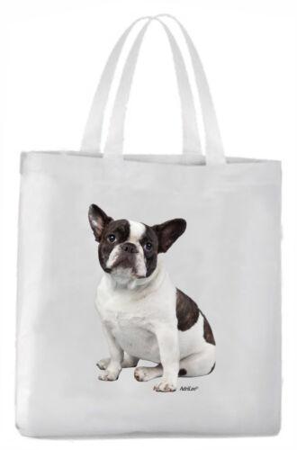 Tragetasche mit Bild Französische Bulldogge s/w Hund Beutel