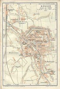 Cartina Dell Italia Rovigo.Carta Geografica Antica Rovigo Pianta Della Citta Tci 1920 Antique Map Ebay
