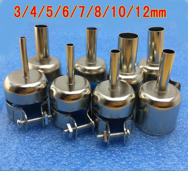 4pcs Soldering Nozzle Replacement For 852D 8508 992DA Hot Air Gun Rework Station