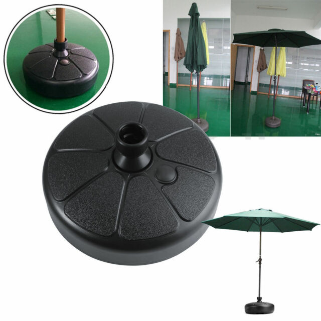 Outdoor Patio Yard Garden Round Water Sand Fillable Umbrella Base Stand Holder