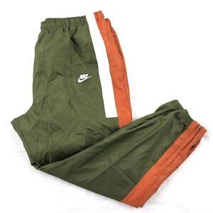 Nike-Reissue-Woven-Jogger-Track-Pants-Olive-Green-White-AQ1895-395-Men-039-s-S-XL