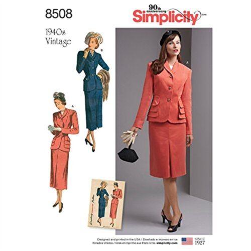 10-12-14-16-18 Simplicidad extraña/'s//Mujeres Traje De Dos Piezas Con Chaqueta Forrada