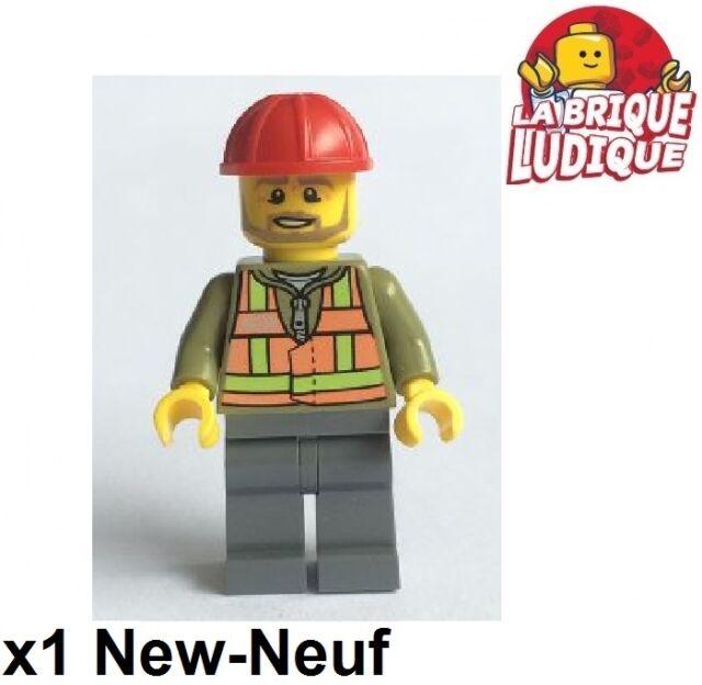 Lego - Figura Minifig Juego Mechanic Tren Casco trn239 60098 Nueva