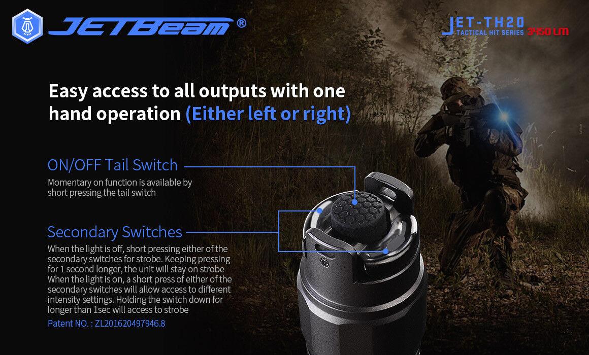 New New New Jetbeam TH20 Cree XHP70.2 3450 Lumens LED Flashlight Torch  With 18650 898c94