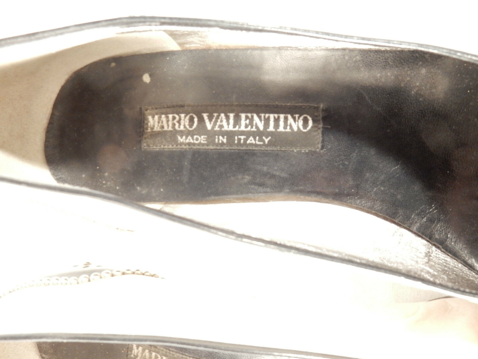 MARIO MARIO MARIO VALENTINO Pumps GR 38,5 Leder Made in  schwarz weiß a1a058