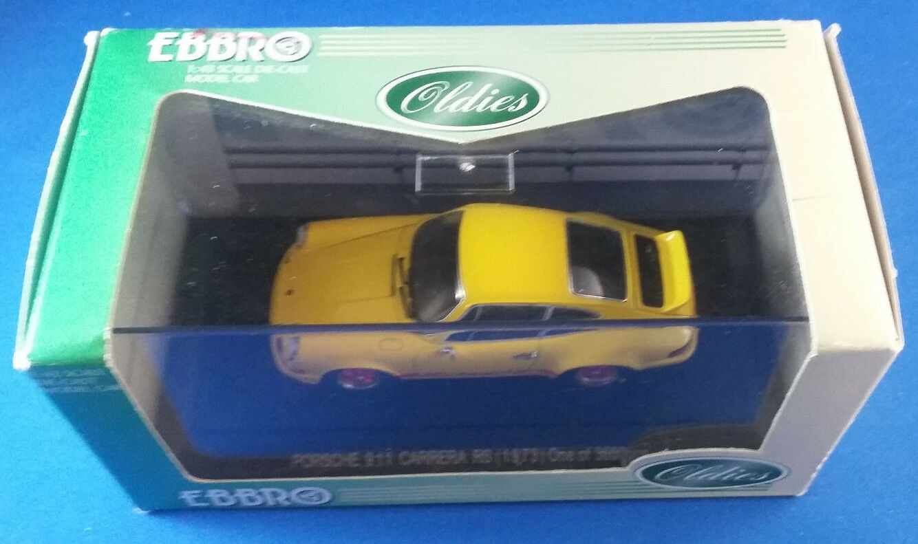 EBBRO Porsche 911 Carrera RS  1973  ONE of 3600 pcs 1:43 Rare giallo