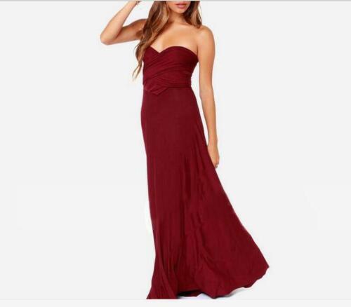 Women/'s 15 Wearring Ways Wrap Bandage Dress Bridesmaid Party Cocktail Long Dress