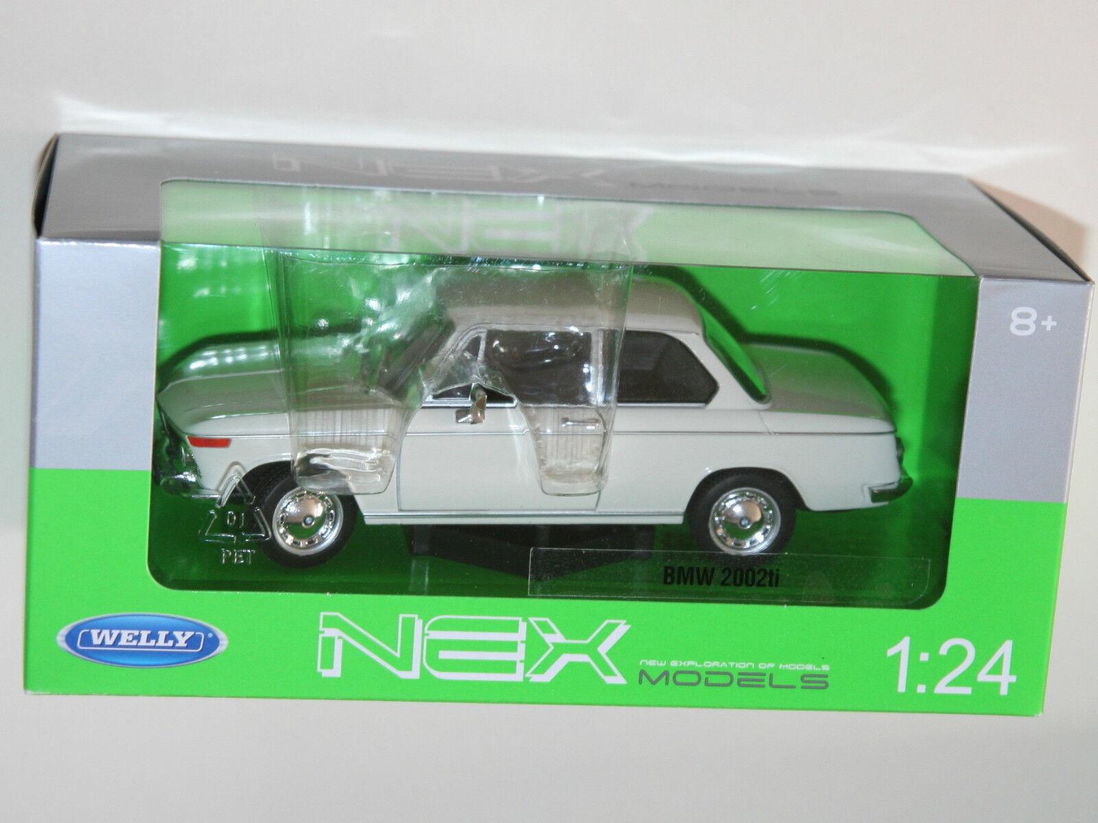 Welly - BMW 2002 ti (Cream) (Cream) (Cream) Die Cast Model - Scale 1 24 5f9ad7