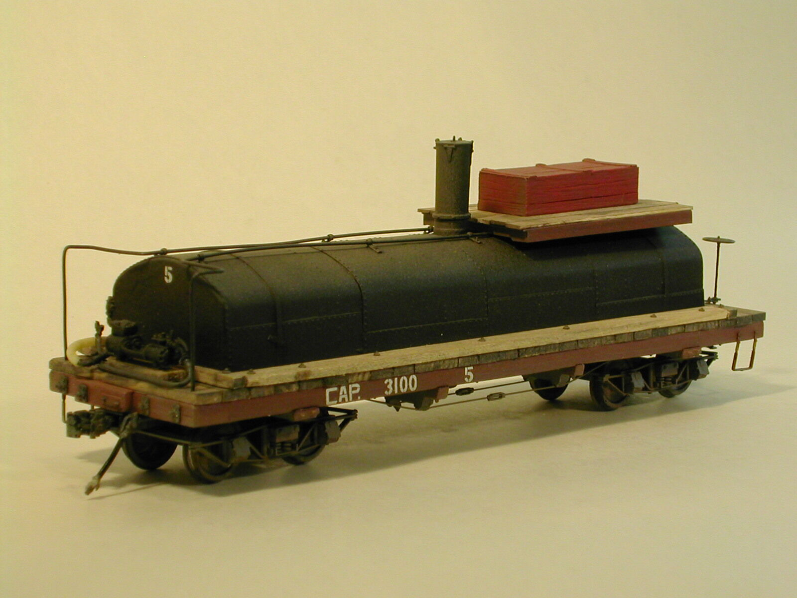 On3/On30 WISEMAN MODEL SERVICES WEST SIDE LUMBER CO. OIL TANK CAR  5 KIT