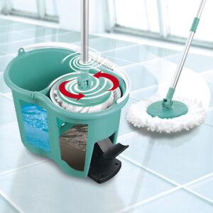 CLEANmaxx-Power-Wischmop-2-Kammer-Filtersystem-Mops-Set-Wischen-Eimer-Boden-Mopp