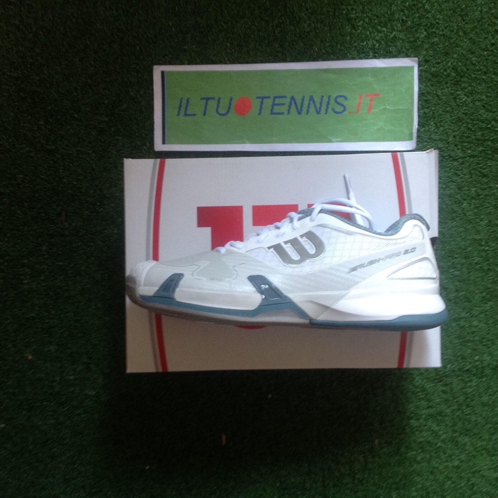shoes WILSON mod. RUSH PRO 2  clay white mis. 43 1 3  Sped.inclusa