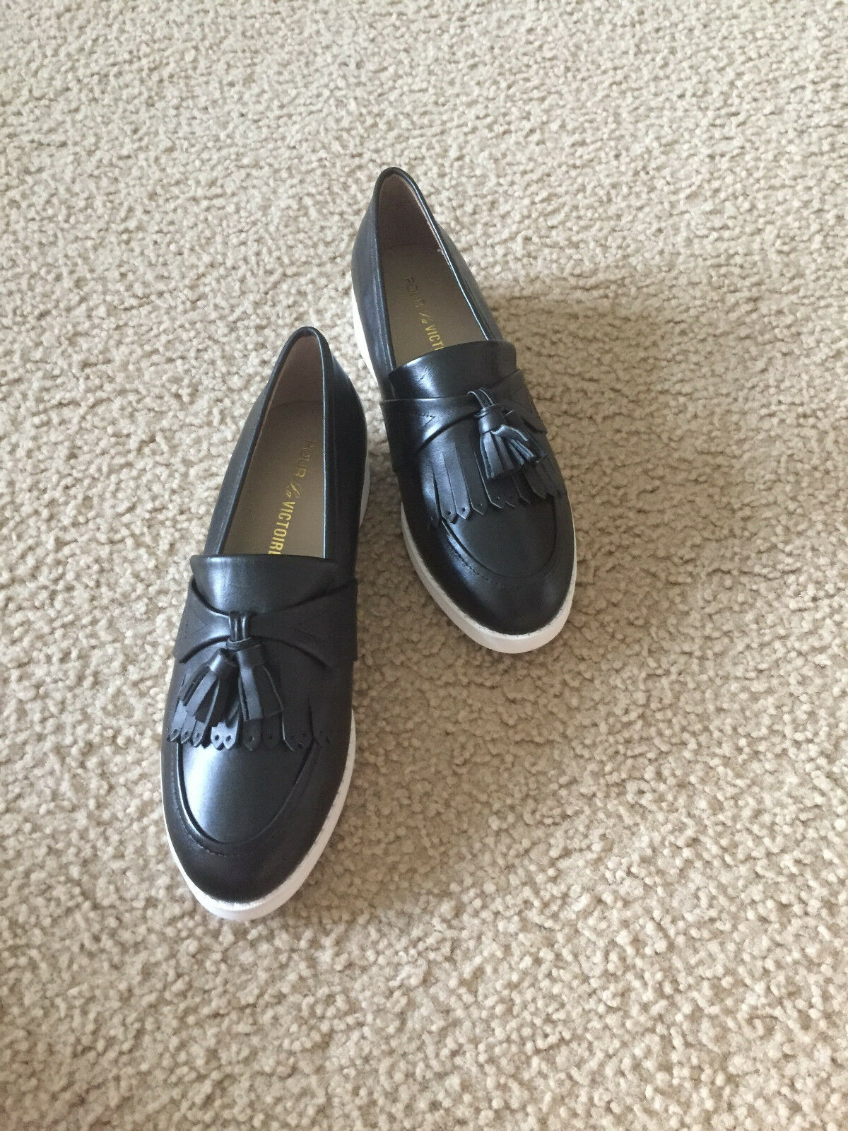 NIB Smoking Pour La Victoire Rissa BLACK CALF Smoking NIB Loafer 5.5 7.5 tassel 3fc1b9