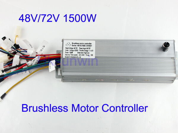 48V 72V 1500W Electric Bicycle Brushless Motor Controller For E-bike & Scooter