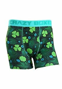 Crazy-Boxers-Shamrock-Get-Lucky-Men-039-s-Boxer-Briefs