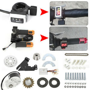 24V-Electric-Conversion-Kit-For-Common-Bike-Left-Chain-Drive-Custom-250W-US-HOT