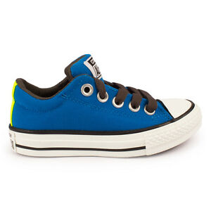 336cd5fecaf6 Junior Converse Chuck Taylor Street Slip On Electric Blue Trainers ...