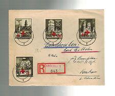 1940 Krakow Poland Germany Regis Cover Waffen SS 1st Totenkopf Regiment Feldpost
