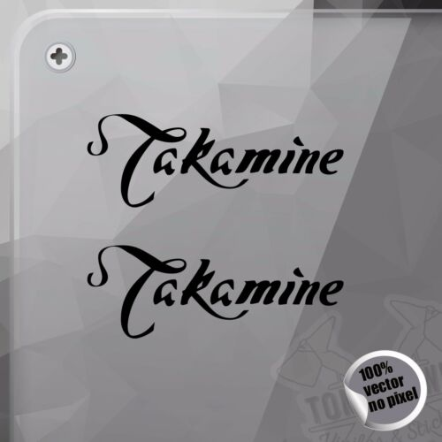 PEGATINA TAKAMINE GUITARS LOGO VINYL DECAL VINYL STICKER AUTOCOLLANT