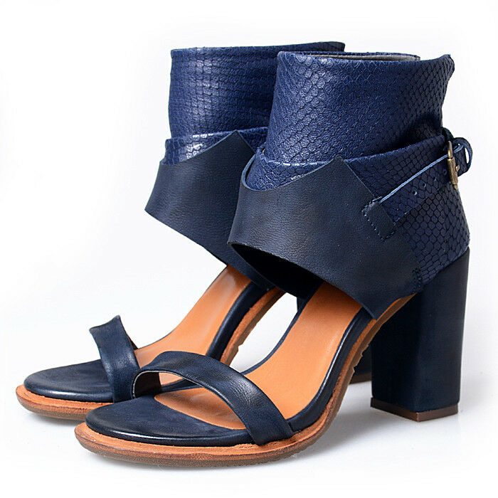 womens sandal sandal womens shoes leather ankle boot open toe buckle high block heels Lady New 65cbf1