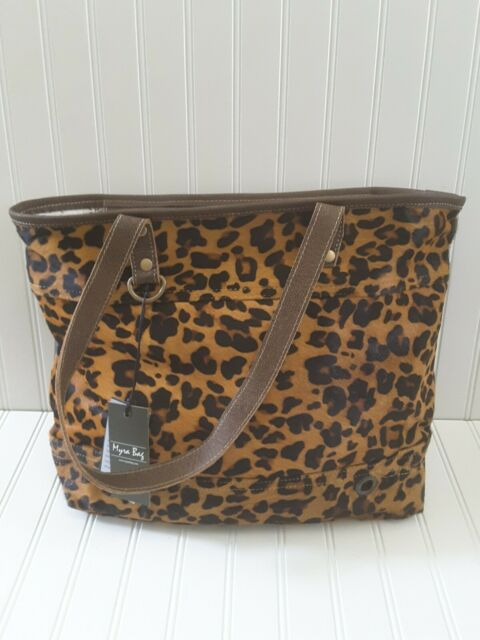 Myra Bag Leopard Print Full Leather Hairon Fur Tote Bag Purse Handbag For Sale Online Ebay Every bag is truly handcrafted with spirit of vintage ebay