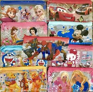 Wholesale Job Lot Pencil Cases Spiderman Frozen Hello Kitty Cars Birds X 48 Toys